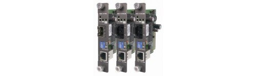 Industrial Rack-Mount Ethernet to Fiber Media Converter